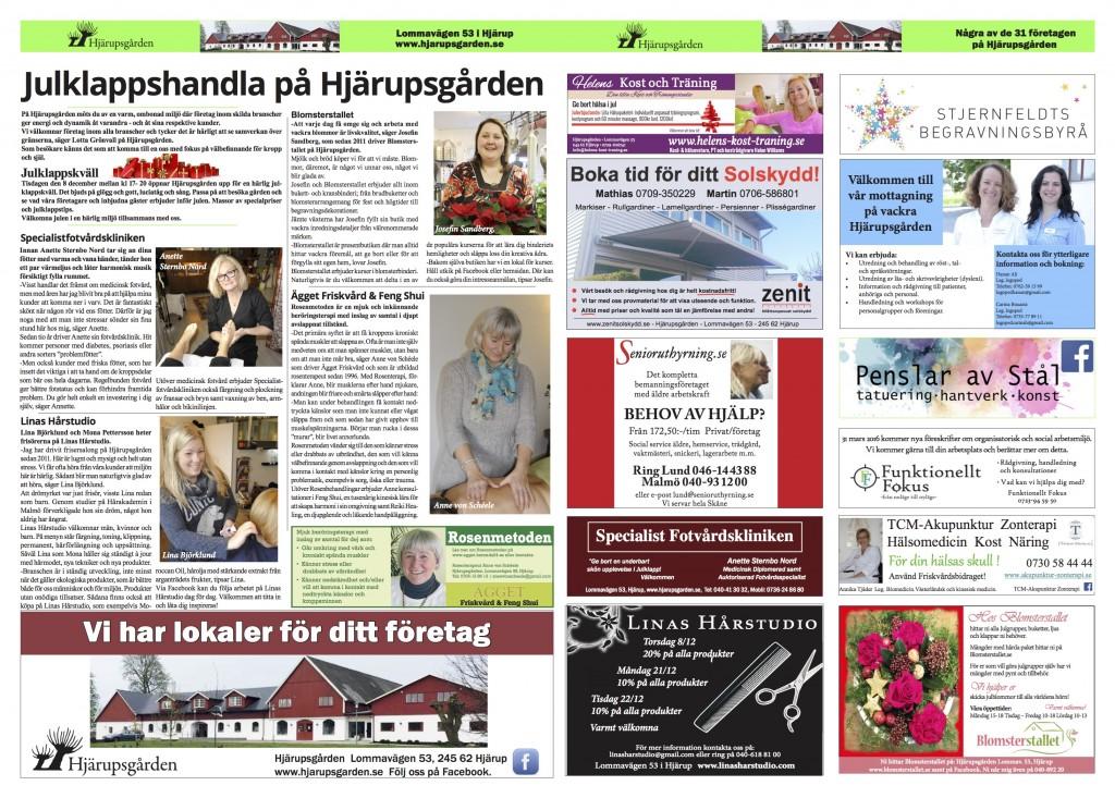Hjärupsgården samlingsannons uppslag 20151206
